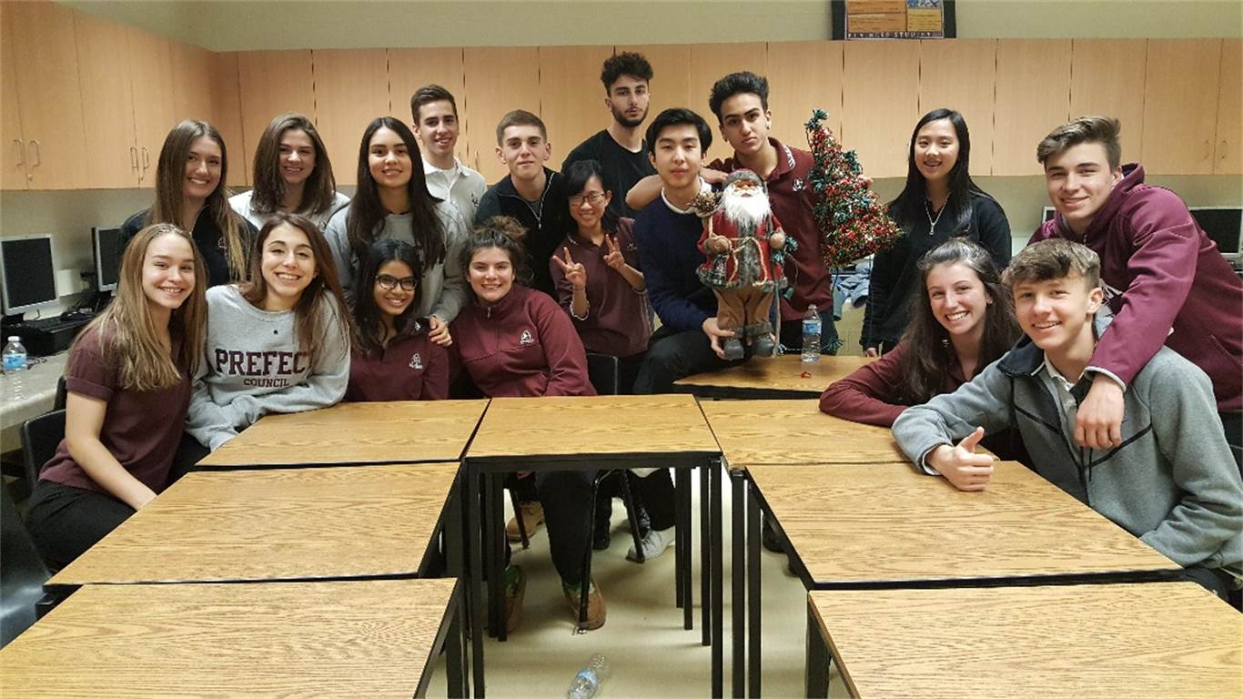 Students from BT's DECA Chapter celebrate Christmas, the time of giving.