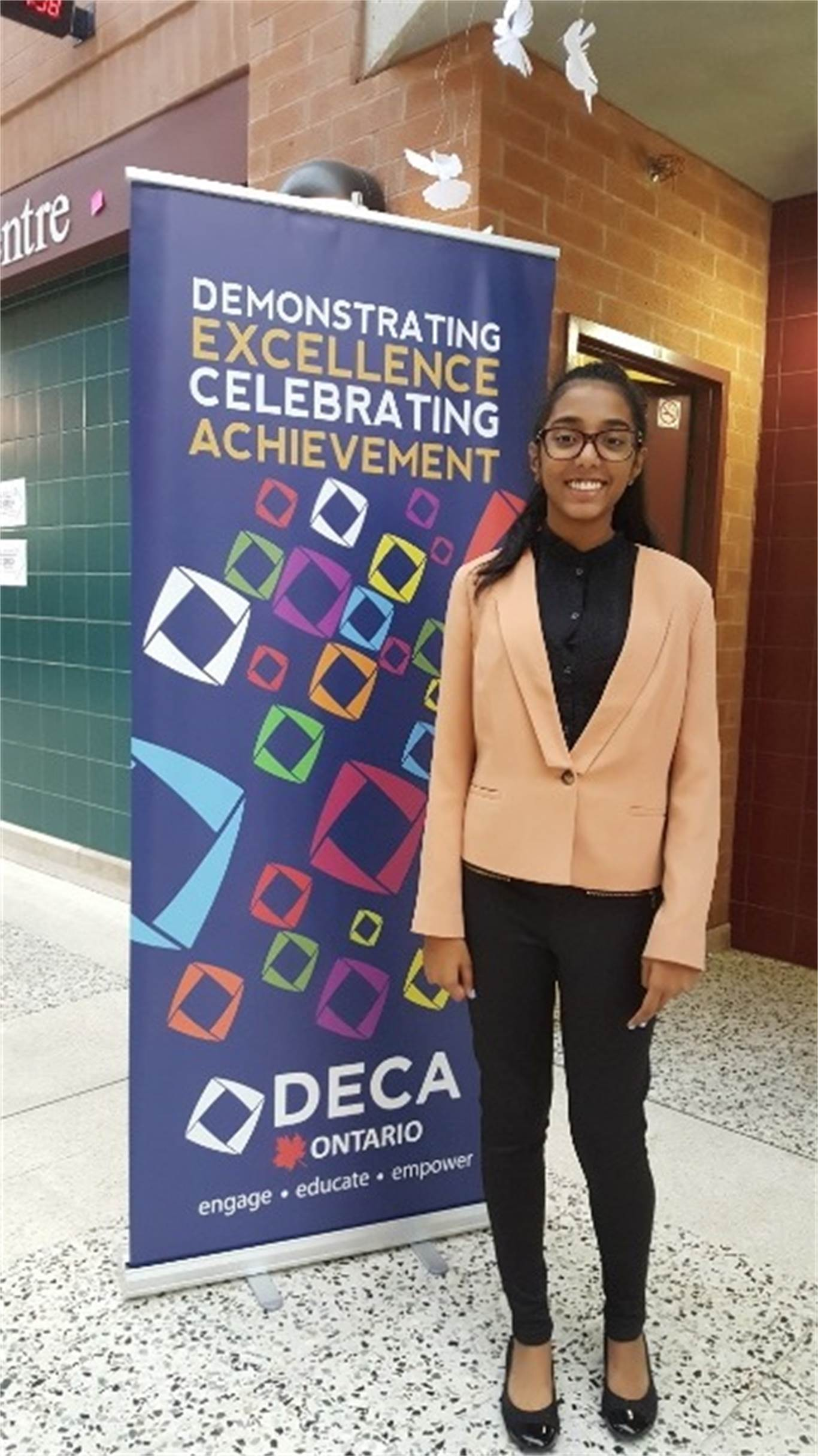 Grade 9 student Katarina Mathew competed in the Principles of Marketing Competitive Event.