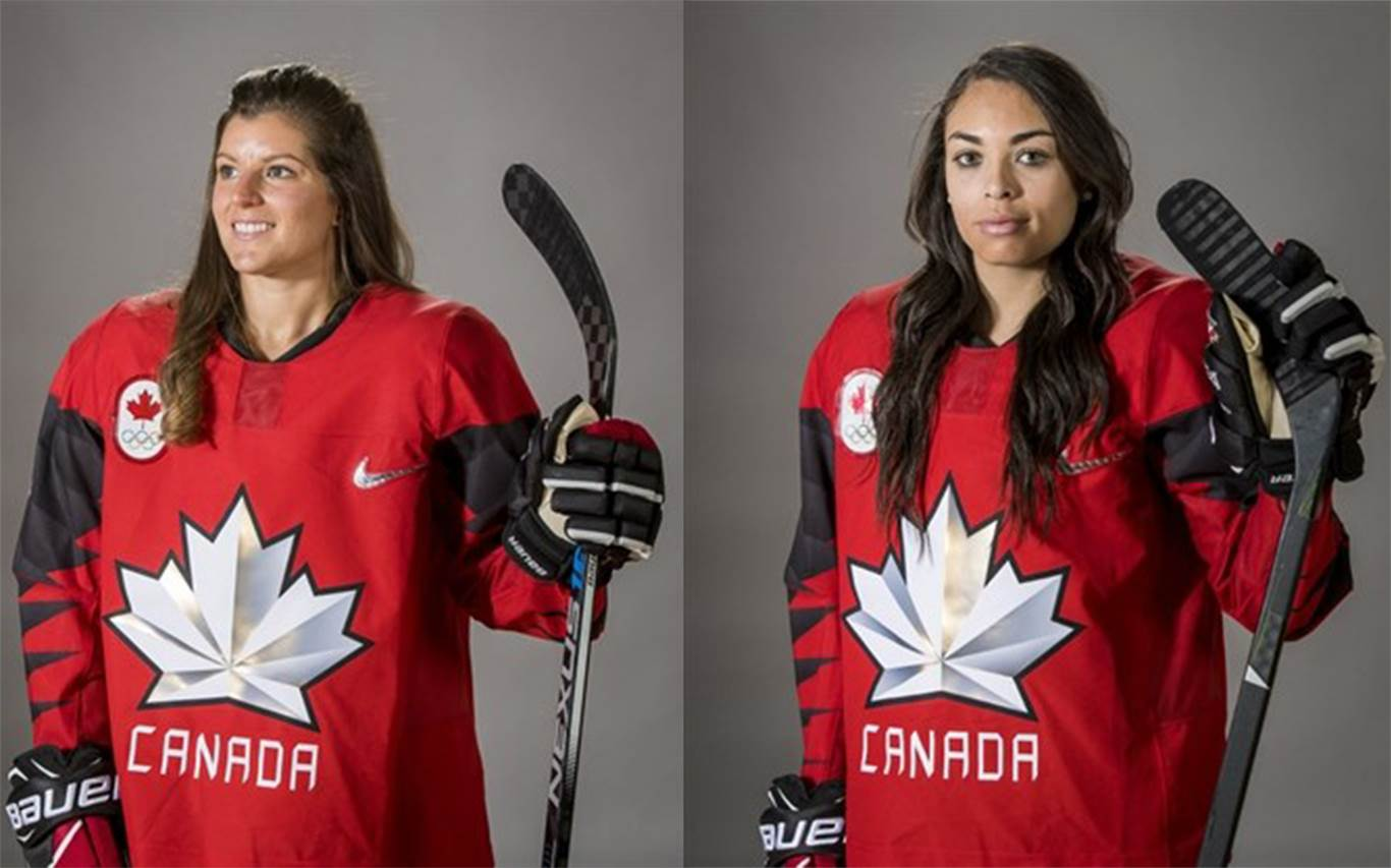 Laura Fortino, left, and Sarah Nurse were named to Canada's Olympic team last week. Photos by Dave Holland, Hockey Canada Images.