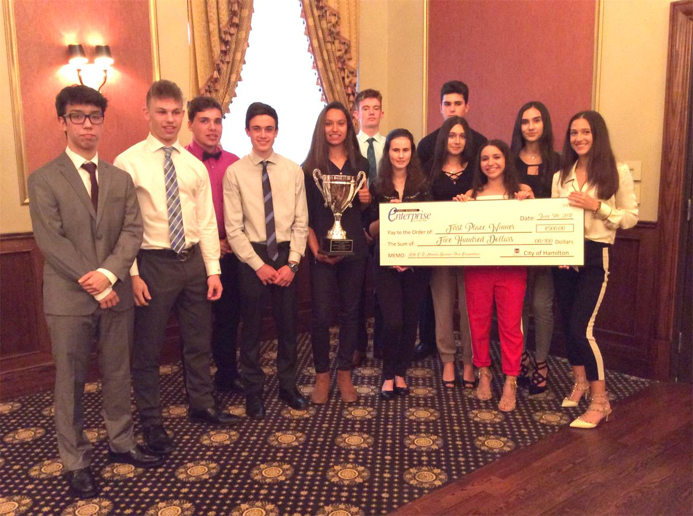 A number of Bishop Tonnos students participated in the E.R. Monaco Business Plan Competition.