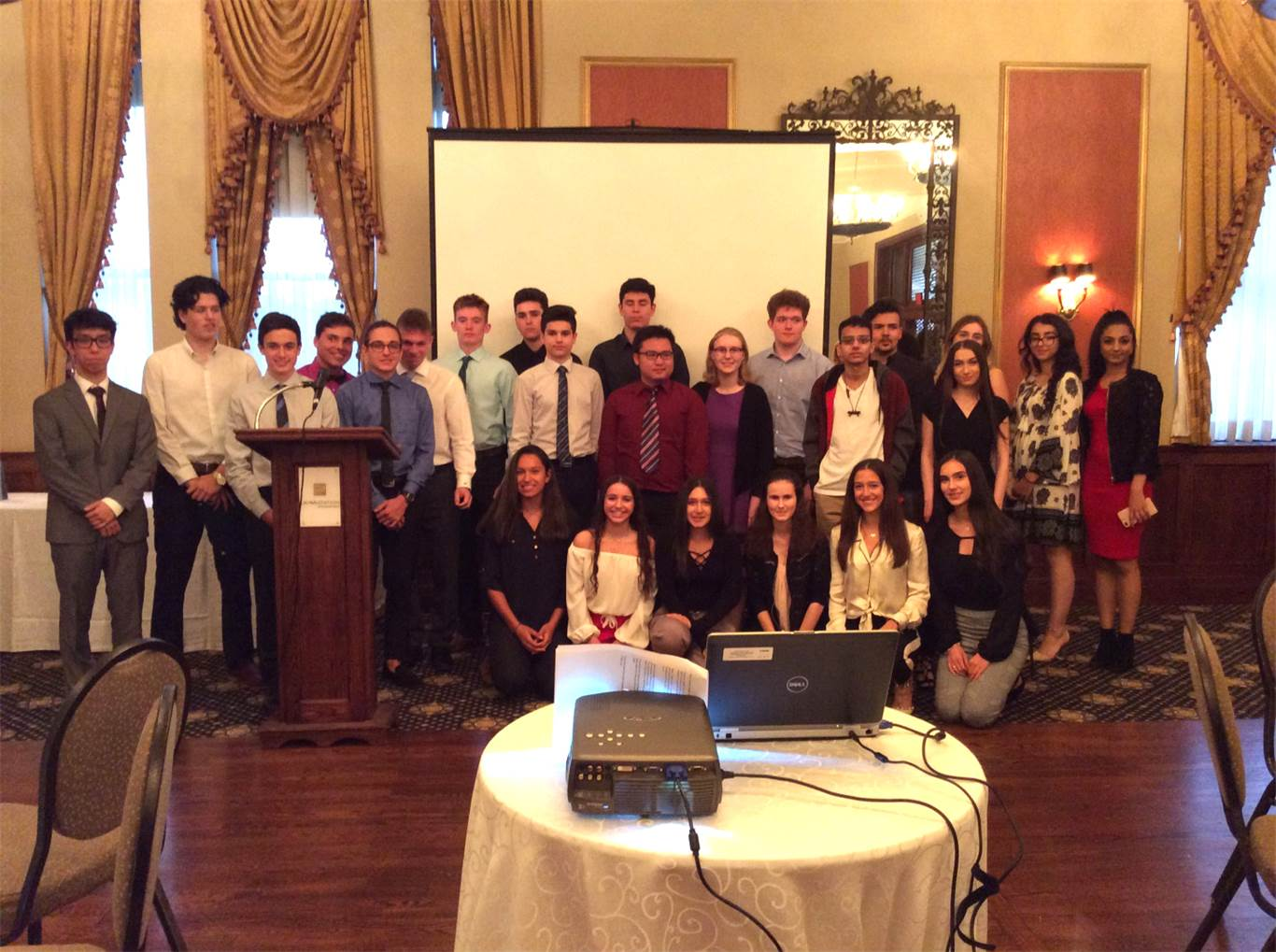Top twenty students from both boards were invited to attend an awards dinner.