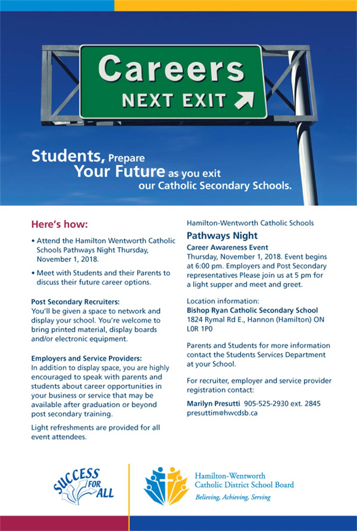 """Careers next exit"" Pathways Night"