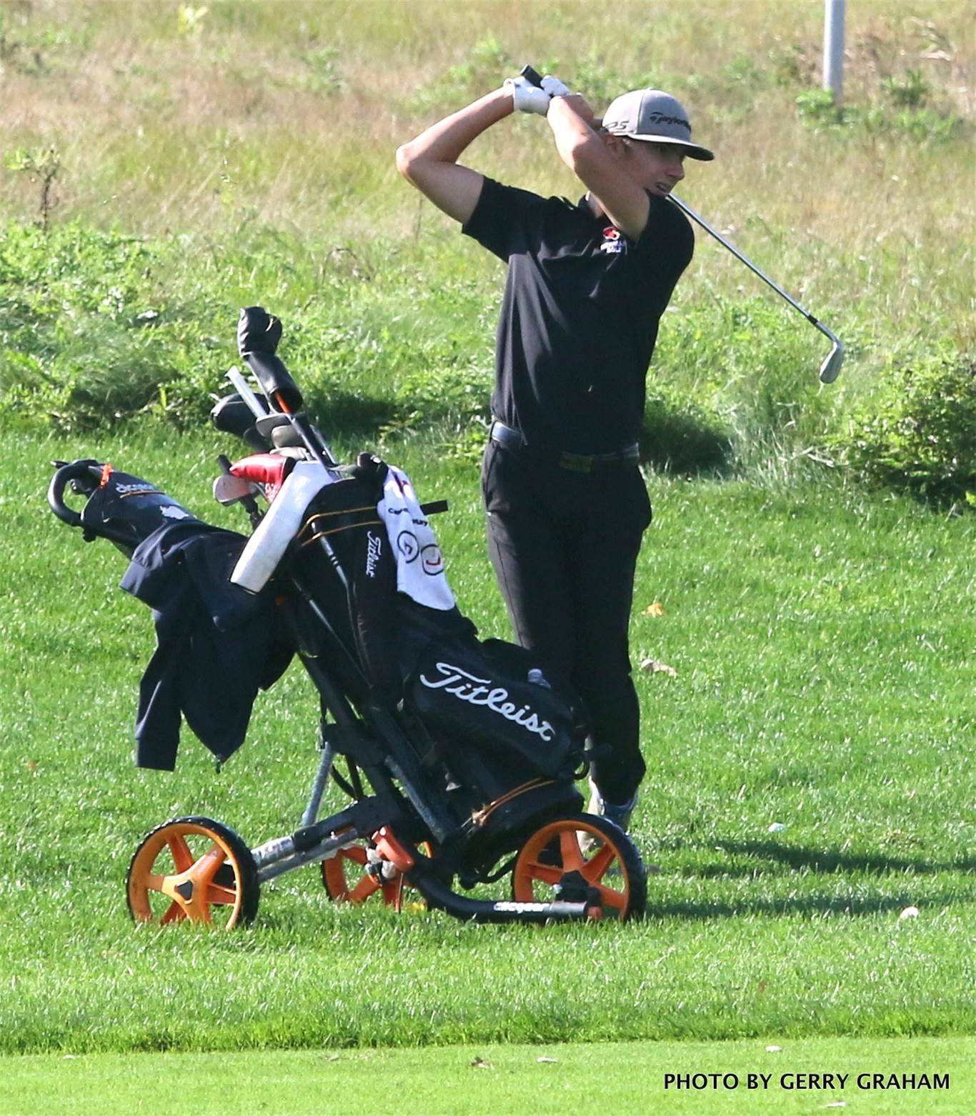 Also competing at the GHAC golf tournament was Alex McGee from Cardinal Newman. Photo by Gerry Graham.