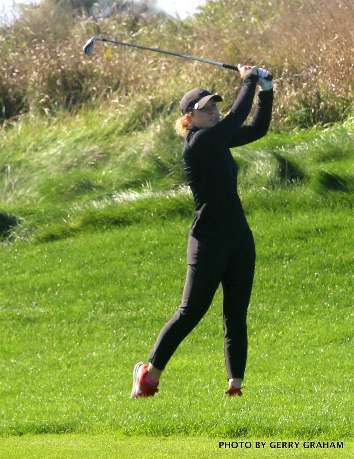 In the girls' 10-player division at Piper's Heath, Payton Bennett of Newman shot a 95. Photo by Gerry Graham.
