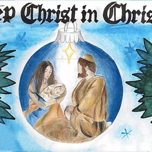 """Keep Christ in Christmas"" poster contest"
