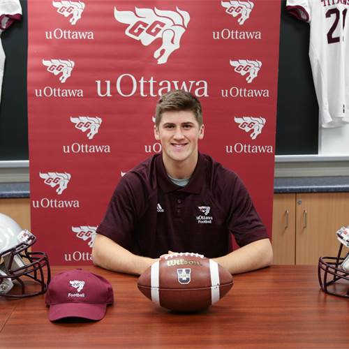 Mark will be following in his cousins' footsteps, Mike and Sam Randazzo, who also played football at the University of Ottawa.